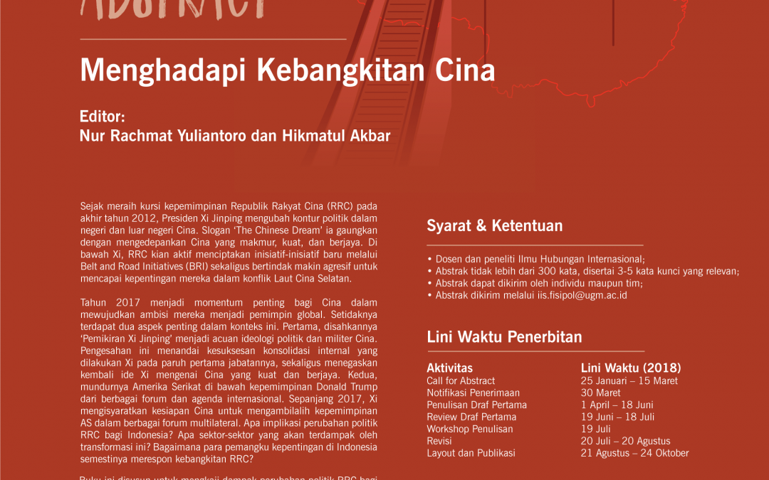 [CALL FOR BOOK CHAPTER ABSTRACT] Menghadapi Kebangkitan Cina