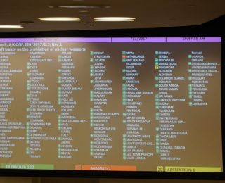 Treaty Banning Nuclear Weapons Adopted