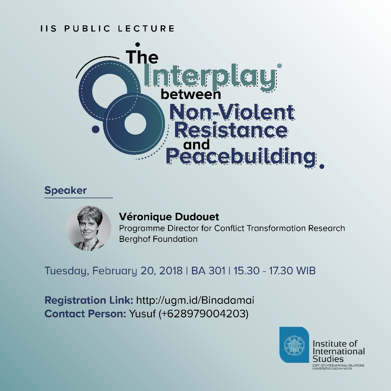[PUBLIC LECTURE] The Interplay Between Non-Violent Resistance and Peacebuilding